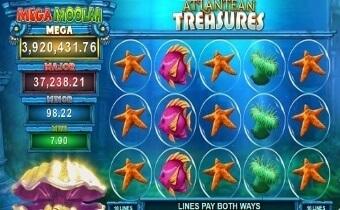 Atlantean Treasures: Mega Moolah Screenshot four