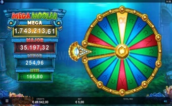 Atlantean Treasures Mega Moolah Screenshot2