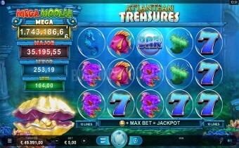 Atlantean Treasures: Mega Moolah Screenshot two