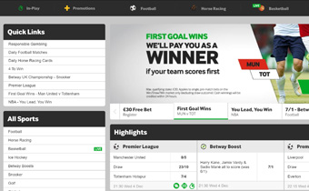 Betway Sports Screenshot 1